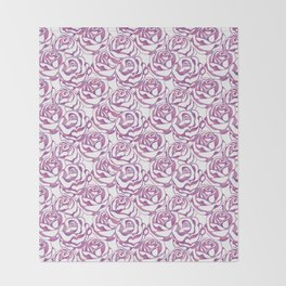 Elegant beautiful pink rose Throw Blanket