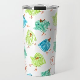 Scribble Birds Travel Mug