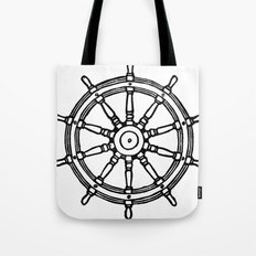 Ship's Helm - Captain's Wheel - Rudder Tote Bag