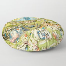 the Garden of Earthly Delights by Bosch Floor Pillow