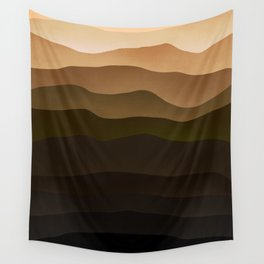 Stratum Brown Wall Tapestry