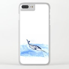 Narwhal Painting Clear iPhone Case