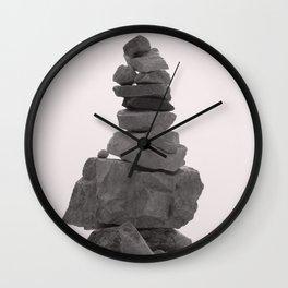 Stones of meditation Wall Clock