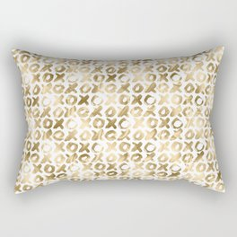 XOXO Love Me Gold Pattern 2 Rectangular Pillow