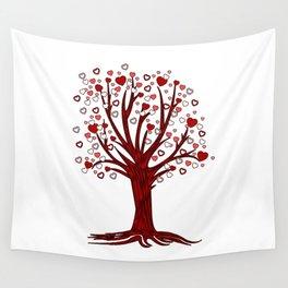 Heart Tree (2) Wall Tapestry