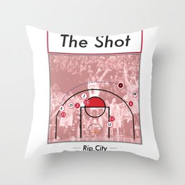 The Shot Series - Damian Lillard Throw Pillow