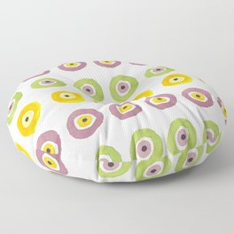 Contemporary Evil Eye Pattern No1 Floor Pillow