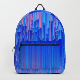 Glitchy Rain - Abstract Pixel Art Backpack