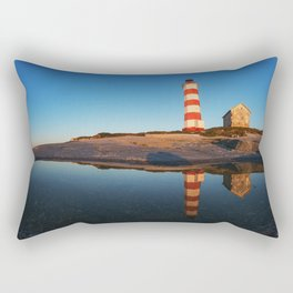 Mirrored Lighthouse Rectangular Pillow