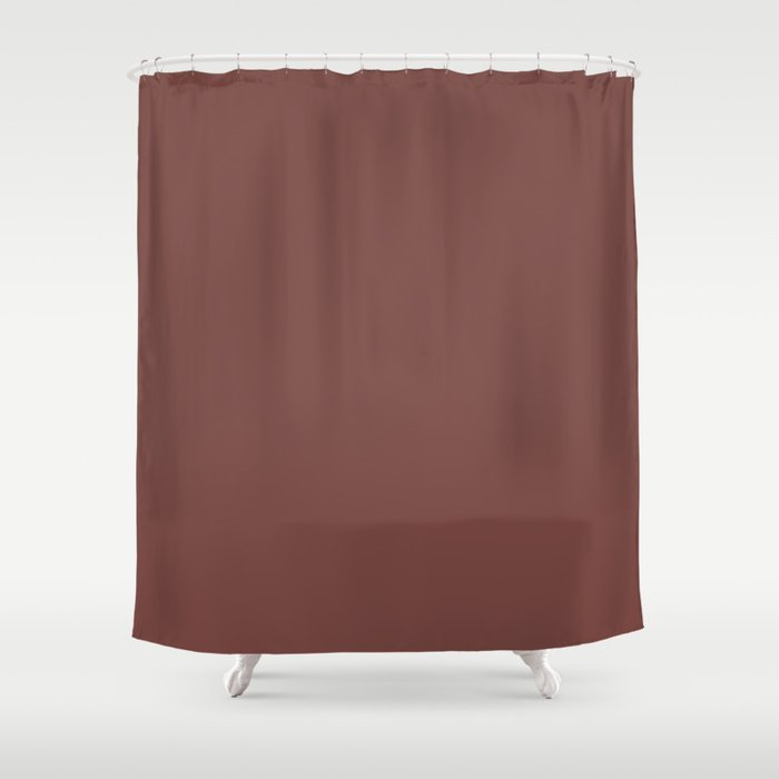 Tread Lightly Reddish Brown Shower Curtain