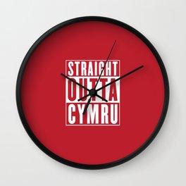 Straight Outta Cymru - Wales Rugby Wall Clock