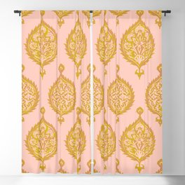 Endana Medallion in Peach Blackout Curtain