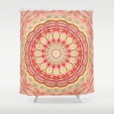 Mandala Tequila Sunrise -- Kaleidoscope of Vibrant Sunny Colors Shower Curtain