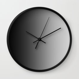 Black to Gray Vertical Linear Gradient Wall Clock