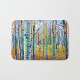 Aspen Trees in the Fall Bath Mat