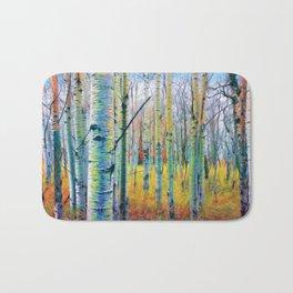 Aspen Trees in the Fall Bath Mat