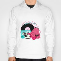 rock n roll Hoodies featuring Rockabilly Rock n Roll by BURPdesigns