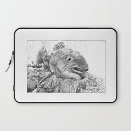 This Trout Means Business Laptop Sleeve