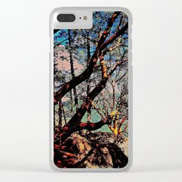Arbutus Trees, Stoney Hill Sunset Clear iPhone Case