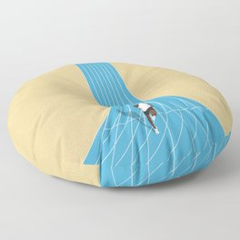 100m | Athletic Track | Motivational  Floor Pillow