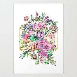 Floral Geometry Art Print