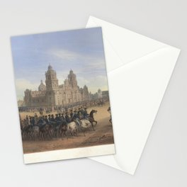 Nebel & Bayot - The Mexican-American War 12: General Scott's Entrance into Mexico City (1851) Stationery Cards