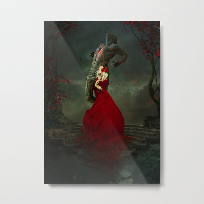 The Martyr and the Saint Metal Print