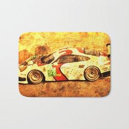 2014 911 RSR classic race car golden background Bath Mat