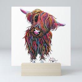 Scottish Highland Cow ' BoLLY ' by Shirley MacArthur Mini Art Print