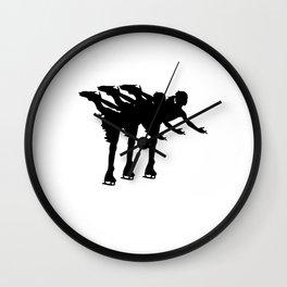Figure Skiting  Spiral Art Sticker  Dancer Female Wall Clock