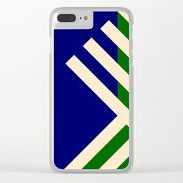 GEOMETRY BLUE&GREEN II Clear iPhone Case