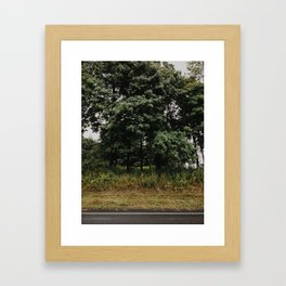 New England Road Framed Art Print