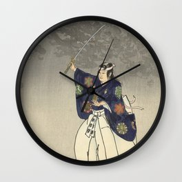 1920s Japanese Art Wall Clock