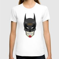 superheros T-shirts featuring Bat-Man Sugar Skull by Clark Street Press