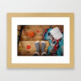 Her Autumn (Color) Framed Art Print
