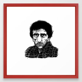Harry Dean Stanton Framed Art Print