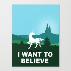 I WANT TO BELIEVE - Unicorn Canvas Print