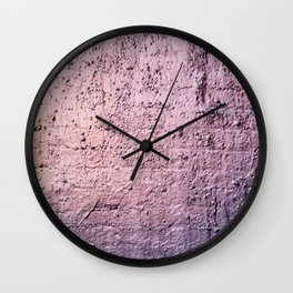 Sunset on Silver Wall Clock