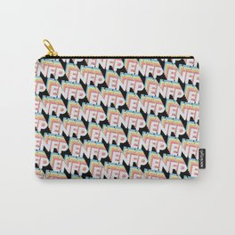 ENFP Trendy Rainbow Text Pattern (Black) Carry-All Pouch