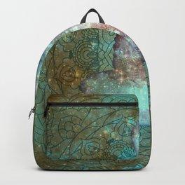 Watercolor Mandala Buddha in Galaxy Backpack