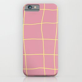Pink and yellow tiles iPhone Case