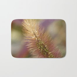 Colorful Autumn Grass Seed Head Bath Mat