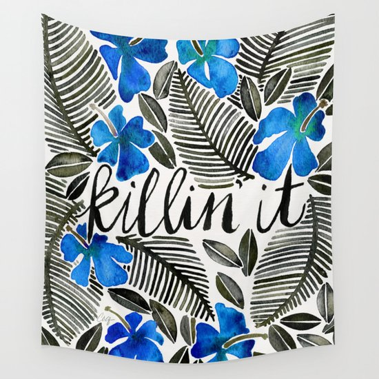 Killin' It – Tropical Blue Wall Tapestry