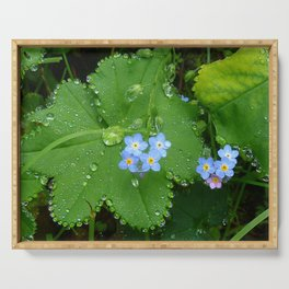 Forget me not jewel drops Serving Tray