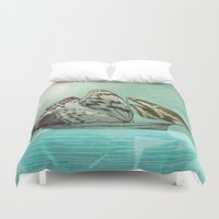 voyage Duvet Covers featuring The Voyage by Eric Fan