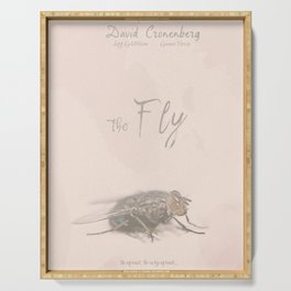 The Fly - Movie poster from David Cronenberg's classic horror film with Jeff Goldblum Serving Tray