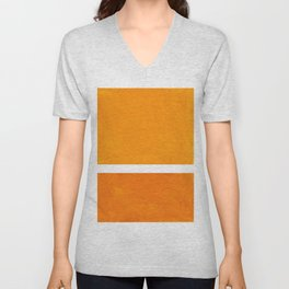 Antique Yellow  & Yellow Ochre Mid Century Modern Abstract Minimalist Rothko Color Field Squares Unisex V-Neck