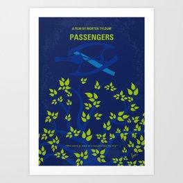 No803 My Passengers minimal movie poster Art Print