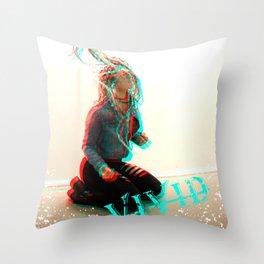 VIVID...bass boosted... Throw Pillow