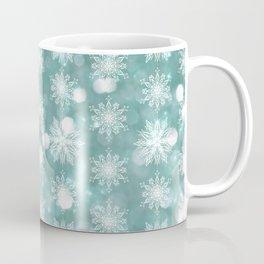 Holiday Teal and Flurries Coffee Mug